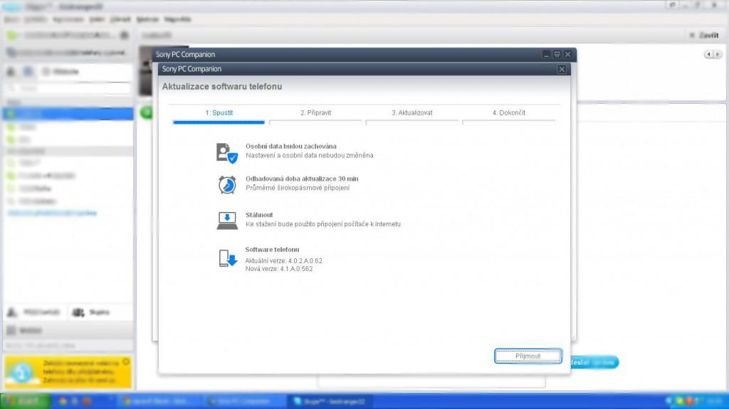 Ukážka Updatu cez PC