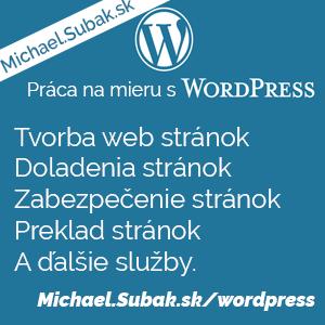 Práca s WordPress, programovanie, tvorba web stránok, preklady, úpravy