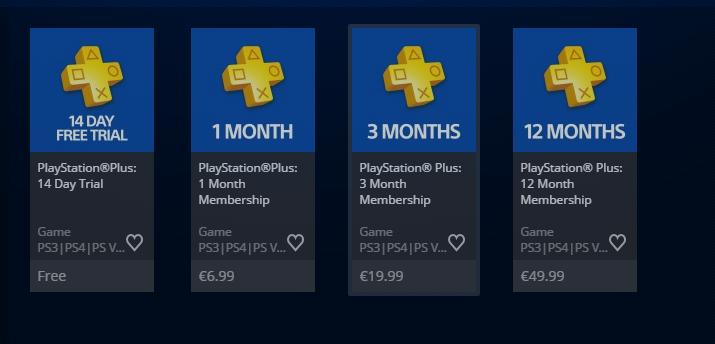 Cena Playstation PLUS