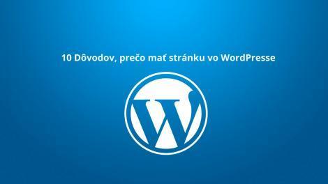 Prečo WordPress