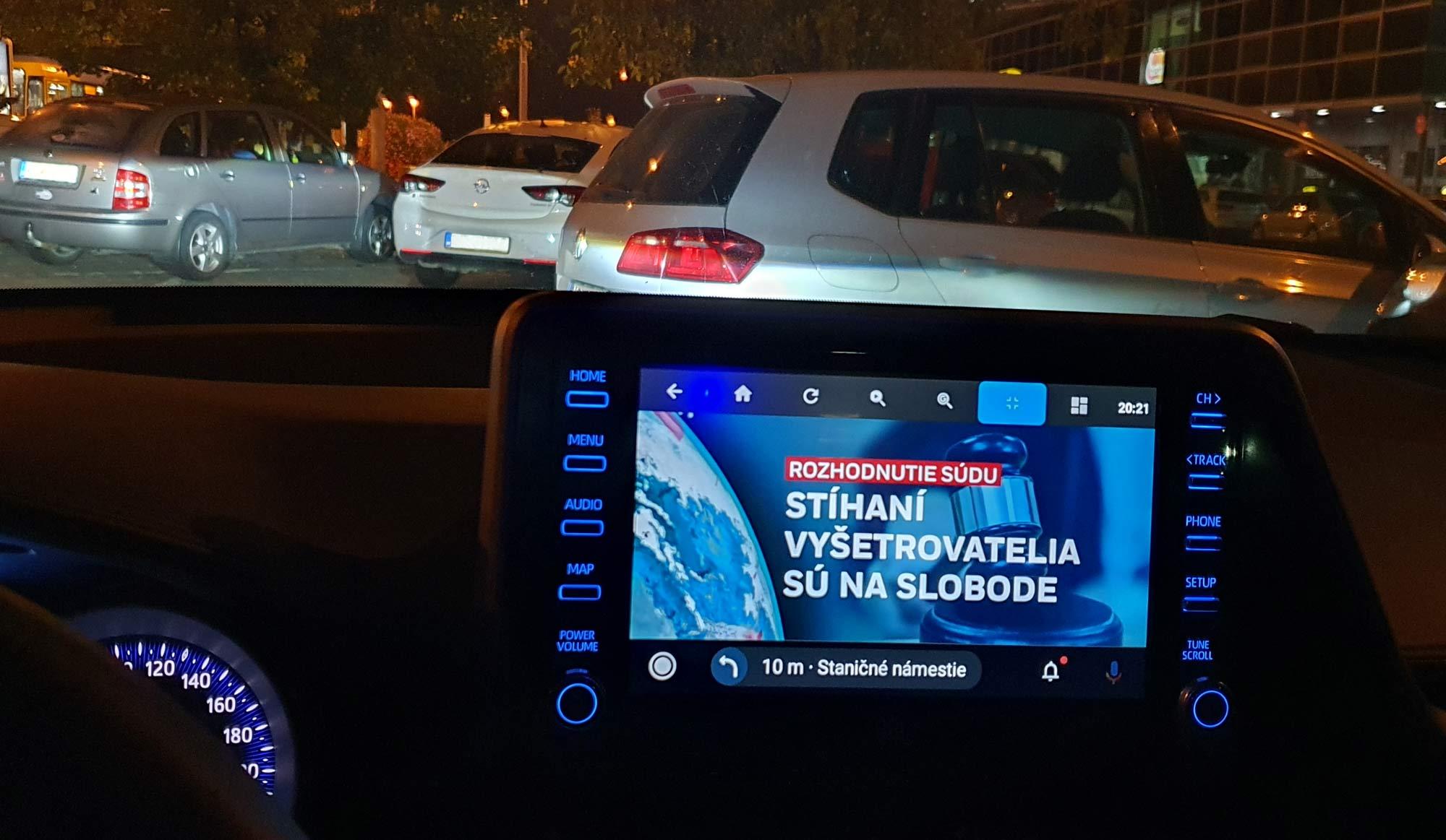 Sledovanie TV cez Android Auto